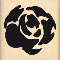 {Hello watercolor}Tampon bois GRANDE ROSE AQUARELLE - Florilèges