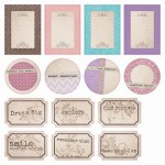 {All I ever}Die cuts elements - 7 Dots studio