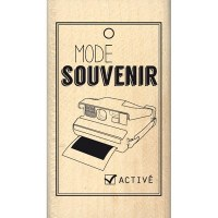 Tampon bois MODE SOUVENIR - Florilèges