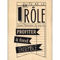 Tampon bois PREMIER RÔLE - Florilèges