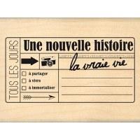 Tampon bois NOUVELLE HISTOIRE - Florilèges