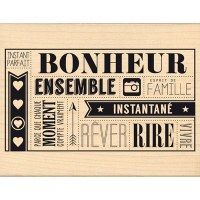Tampon bois BONHEUR INSTANTANÉ - Florilèges