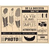 Tampon bois PETITES CHOSES SIMPLES - Florilèges