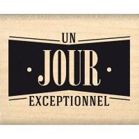 Tampon bois JOUR D'EXCEPTION - Florilèges
