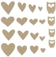 Coeurs carton ondulé - Jillibean soup