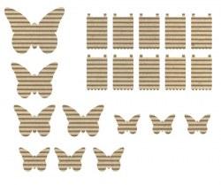 Papillons carton ondulé - Jillibean soup
