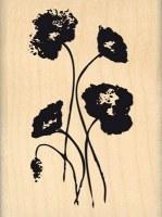 {Hello watercolor}Tampon bois GENTILS COQUELICOTS - Florilèges