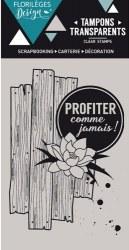 {Capsule juillet 2016}Tampon clear COMME JAMAIS - Florilèges