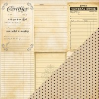 {Heritage}Note cards vertical/Dot - Bazzill