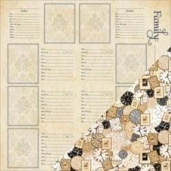 {Heritage}Family name/Clocks - Bazzill