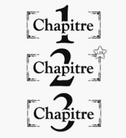 Tampons CHAPITRES 1,2,3 - Lolascrap
