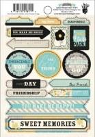 {Park bench}Labels stickers - Fancy Pants