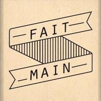 Tampon bois BANNIÈRE FAIT MAIN - Florilèges