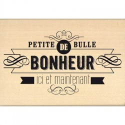 Tampon bois BULLE DE BONHEUR - Florilèges