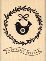 Tampon bois COURONNE DE FÊTE - Florilèges