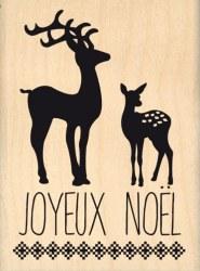 Tampon bois NOËL EN FORÊT - Florilèges