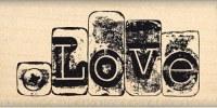 Tampon bois LOVE MÉTALLISÉ - Florilèges