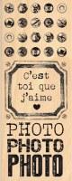 Tampon bois TOI QUE J'AIME - Florilèges