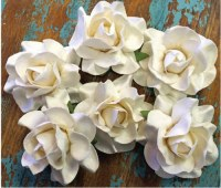 Fleurs papier COLOR LAB blanches - Marion Smith Designs