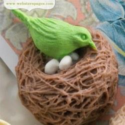 Embell. résine NESTING BIRDS BROWN - Webster