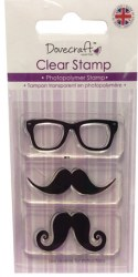 Tampons clear MUSTACHE & GLASSES - Dovecraft