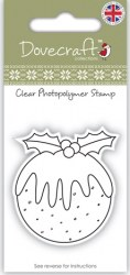 Tampon clear CHRISTMAS PUDDING - Dovecraft