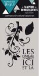 {Capsule septembre 2016}Tampons clear LES FEUILLES TOMBENT - Florilèges