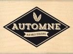 {Capsule septembre 2016}Tampon bois AUTOMNE AUX MILLE COULEURS - Florilèges