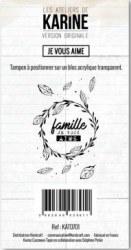{Version originale}Tampon clear JE VOUS AIME - Les ateliers de Karine