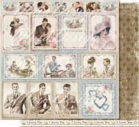 {Vintage romance}Ephemera cards - Maja design