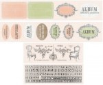 {Vintage memories}Lot de 4 bandes de die cuts - Studio 75