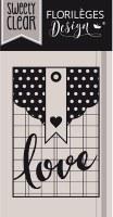 {Capsule mai 2016}Tampon clear POCHETTE LOVE - Florilèges