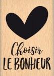 {Capsule mai 2016}Tampon bois CHOISIR LE BONHEUR - Florilèges