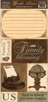 {Gentler times}Feuille à découper FAMILY - Paper loft