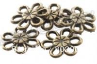 Lot 5 charms MINI FLEUR bronze