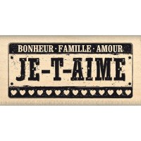 Tampon bois IMMATRICULATION - Florilèges
