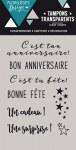 {Capsule octobre 2016}Tampons clear BON ANNIVERSAIRE - Florilèges