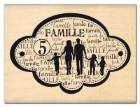 Tampon bois FAMILLE DE CINQ - Florilèges