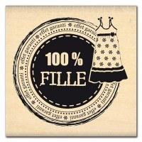 Tampon bois EFFET 100% FILLE - Florilèges