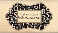 Tampon bois MEILLEURS SOUVENIRS - Florilèges