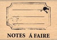 Tampon bois ETIQUETTE ECOLIERE - Florilèges