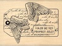 Tampon bois TAG AILES D'ANGE - Florilèges