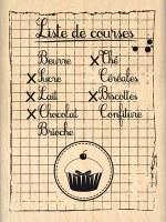 Tampon bois MA LISTE DE COURSES - Florilèges