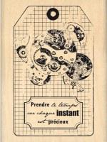 Tampon bois MECANISME TEMPOREL - Florilèges