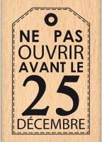 Tampon bois PAS AVANT LE 25 - Florilèges