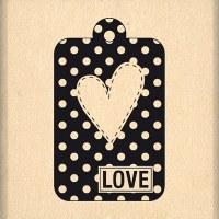Tampon bois TAG LOVE - Florilèges