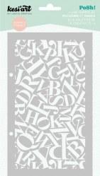 Pochoir/Mask POSH! Alphabet - Kesi'art