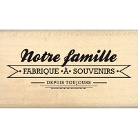 Tampon bois FABRIQUE A SOUVENIRS - Florilèges