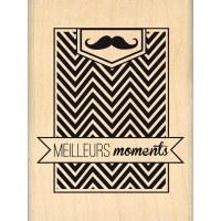 Tampon bois MEILLEURS MOMENTS - Florilèges
