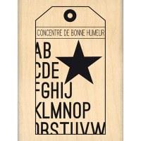 Tampon bois BONNE HUMEUR - Florilèges